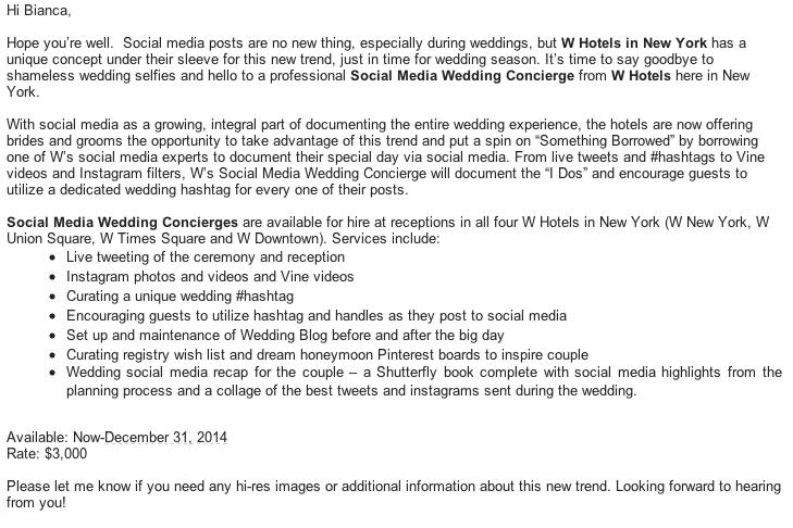 Live tweet - social media wedding concierge