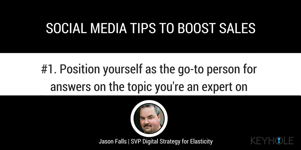 Social Media Tips to Boost Sales - Jason Falls for Keyhole