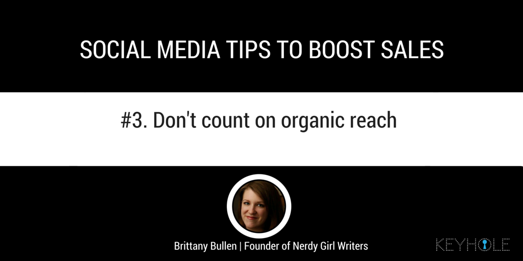 Social Media Tips to Boost Sales - Brittany Bullen for Keyhole
