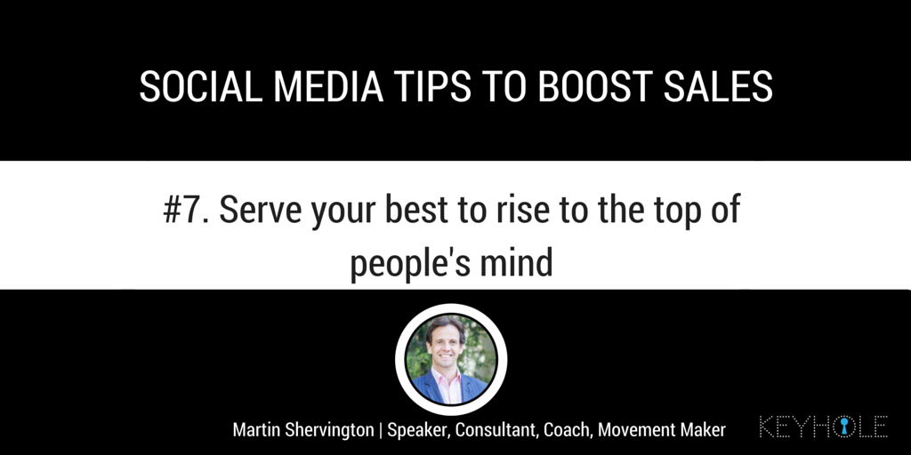 Social Media Tips to Boost Sales - Martin Shervington for Keyhole