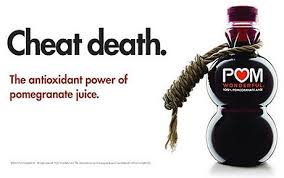 Exaggerative ad by POM. A pomegranate juice isn't an Elixir.