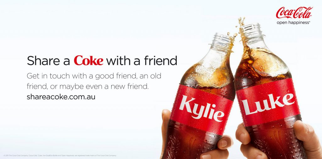 Share a coke marketing campaign - australia