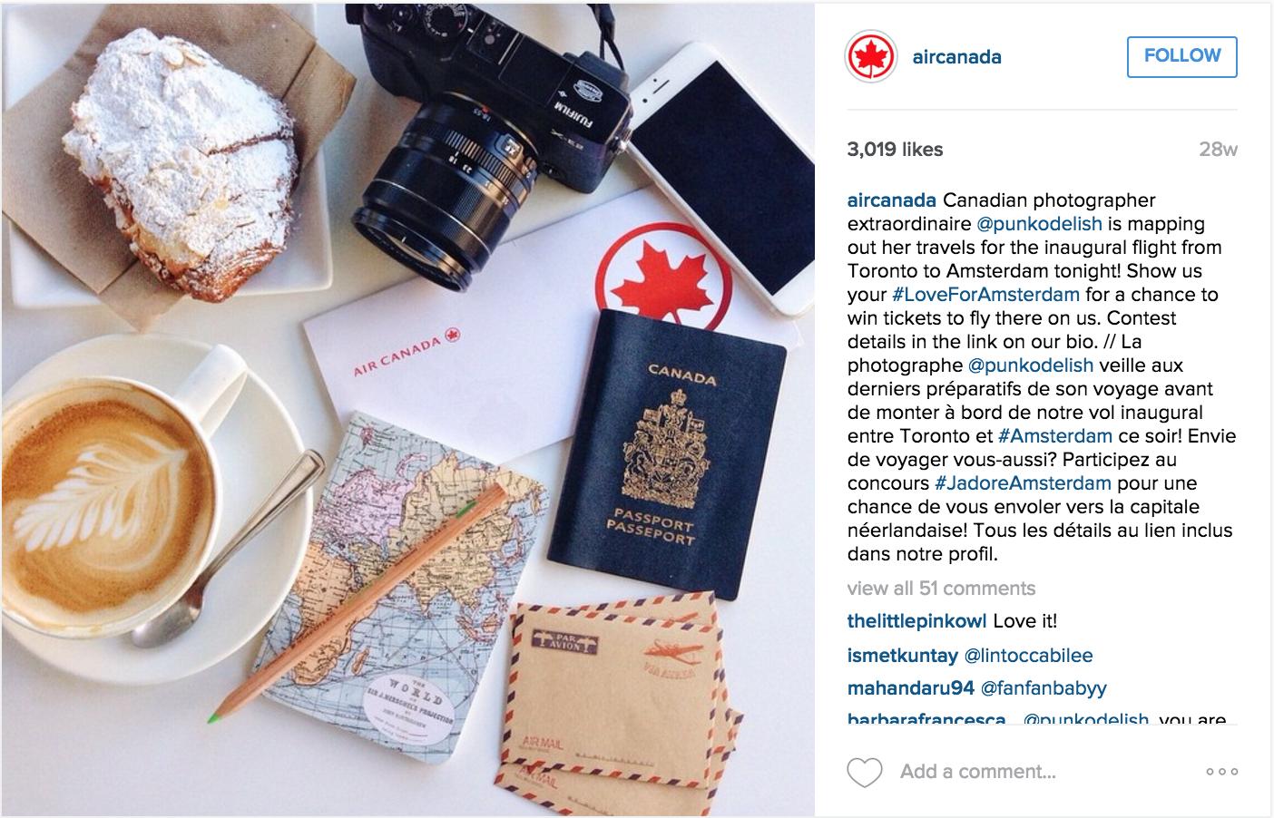 Air Canada - Instagram Campaign