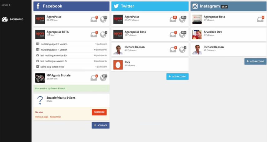 AgoraPulse - Top 25 Social Media Analytics Tools