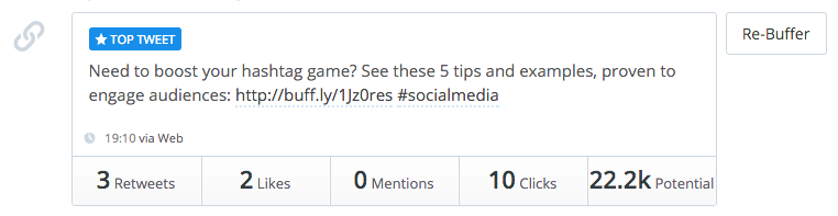 Buffer - Top 25 Social Media Analytics Tools