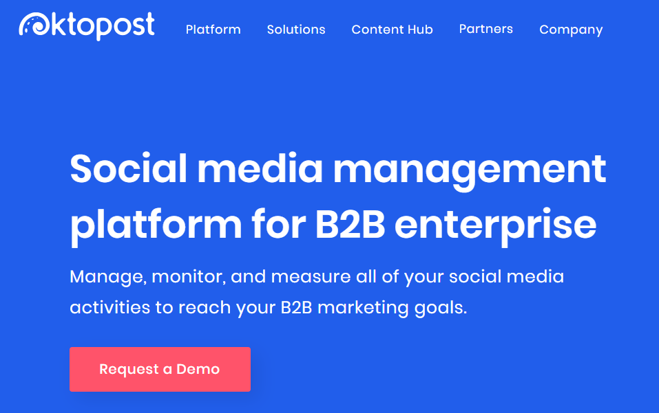 Oktopost - Top 25 Social Media Analytics Tools