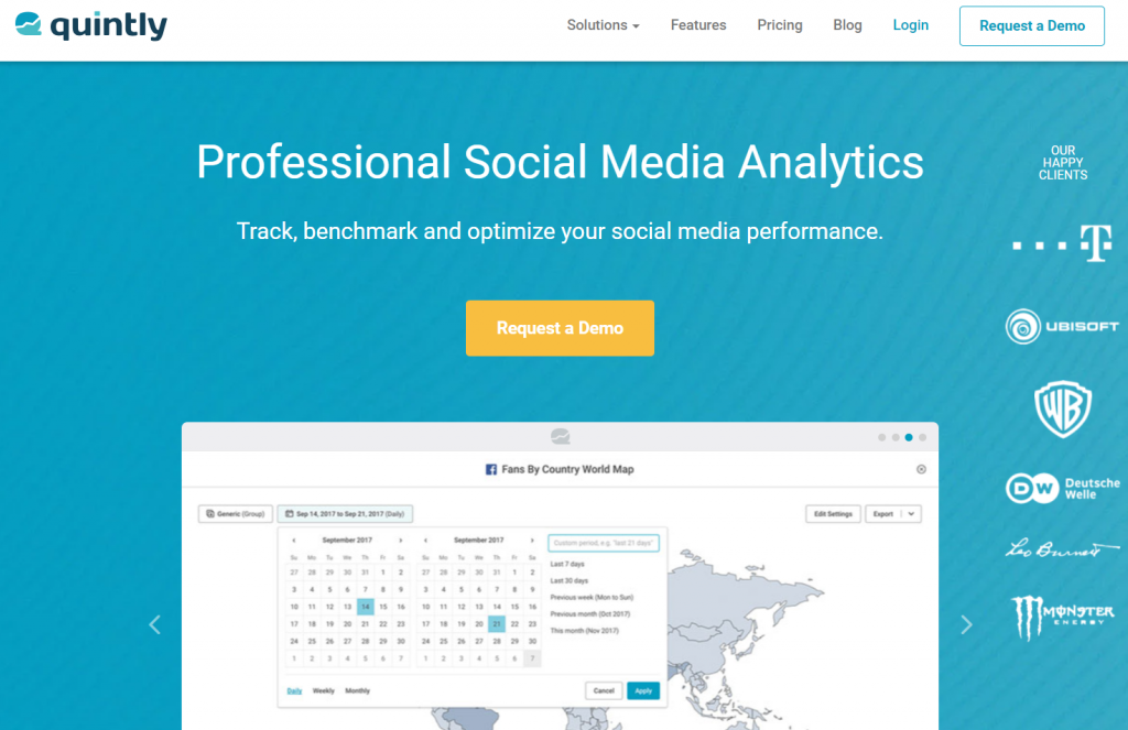 Quintly - Top 25 Social Media Analytics Tools