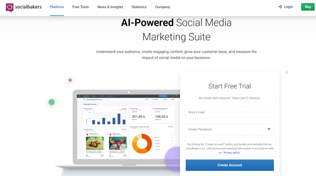 Socialbakers - Top 25 Social Media Analytics Tools