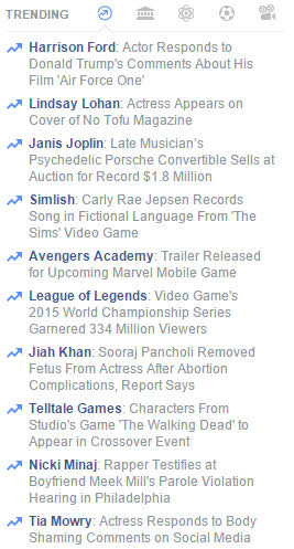 Trending Hashtags on Facebook