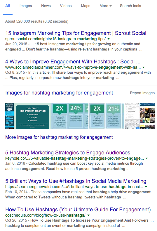 Hashtag Marketing Example - How to Write Clickable Marketing Headlines