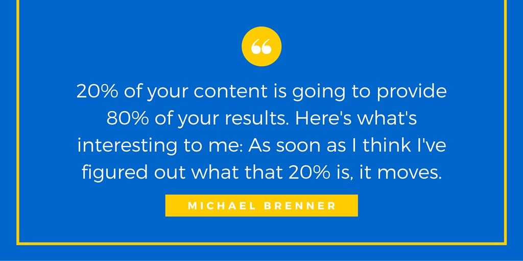 Interview with Marketing Influencer Michael Brenner - Quote
