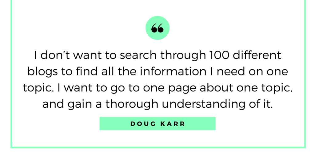 Doug Karr Quote - How to Grow and Run a Successful Company Blog
