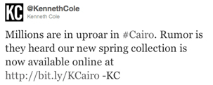 KennethColeOriTweet - 10 Brutal Trend and Campaign Hashtag Fails from Big Brands