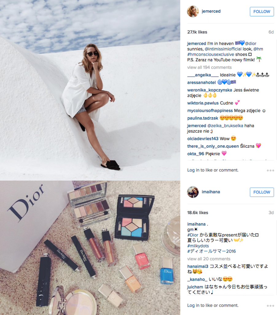 Dior - Instagram's Top 10 Fashion and Apparel Hashtags