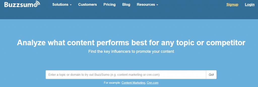 BuzzSumo - Top 25 Social Media Monitoring Tools