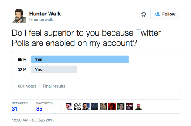 Twitter Poll - 75 Twitter for Business Uses