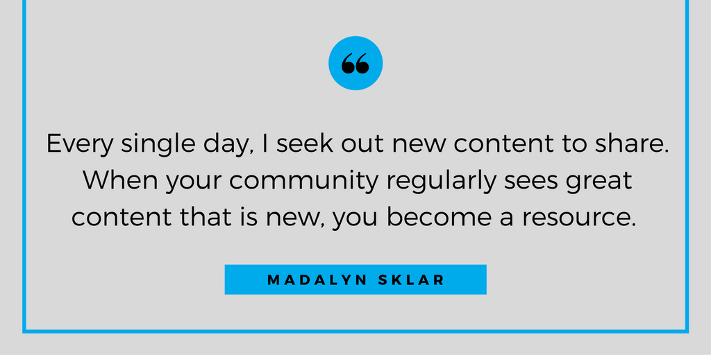 Madalyn Sklar Quote - How to Build and Run a Successful Twitter Chat