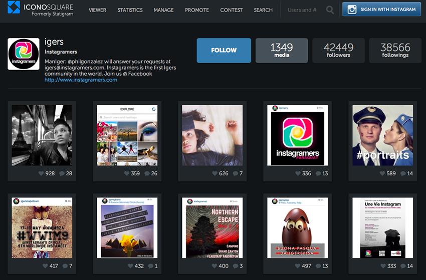 Iconosquare - Top 15 Instagram Analytics Tools