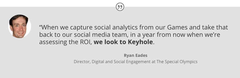 Social Media Analytics - ROI - Special Olympics for Keyhole