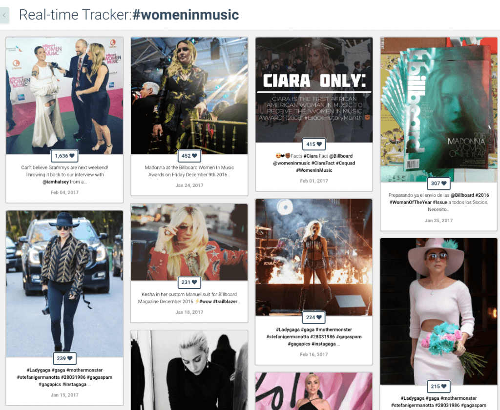 Billboard - Hashtag Tracking - Women in Music, Billboard Top 100