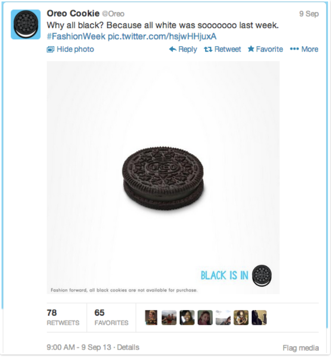 Oreo - Trending Tweet - Hashtag Campaign