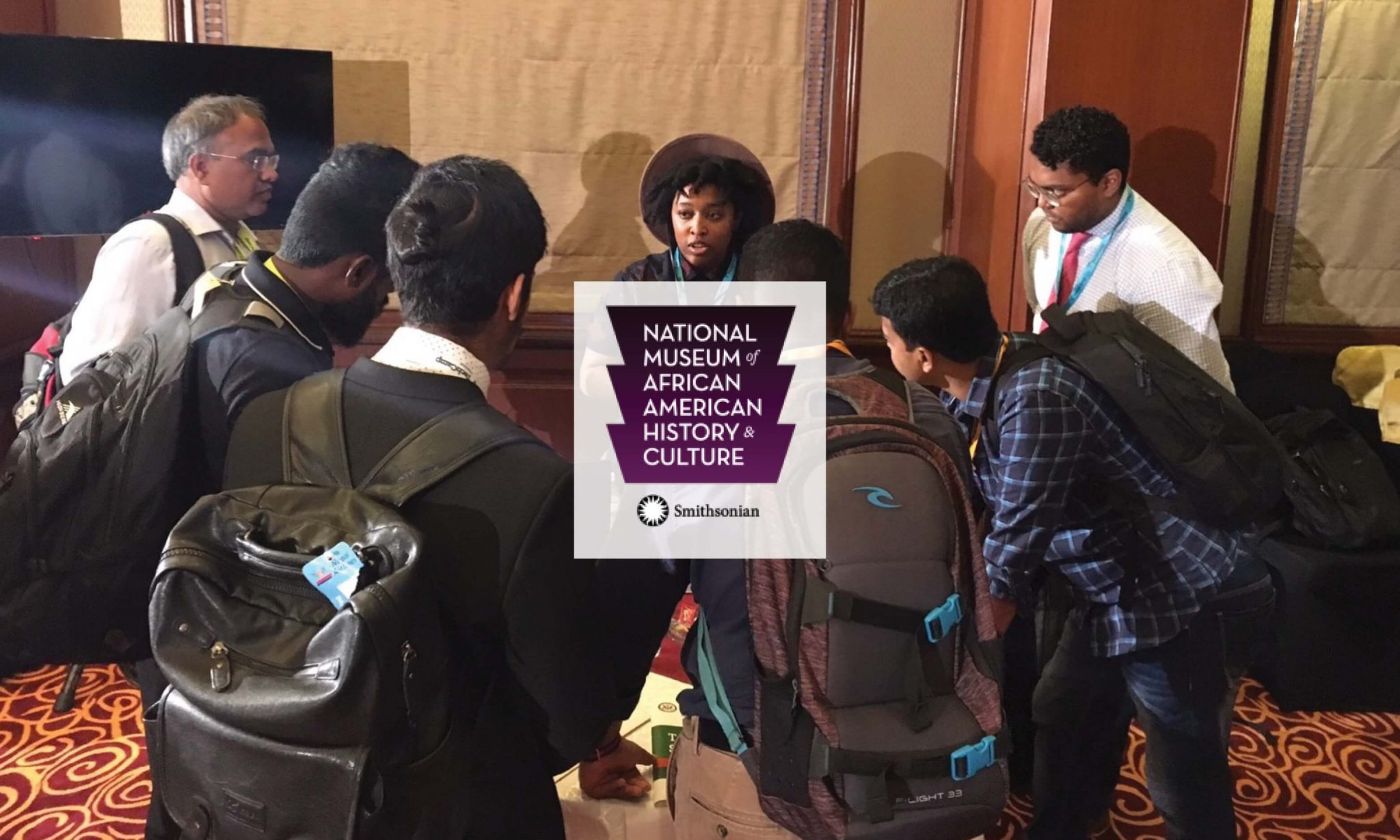 NMAAHC logo and Photo of SOcial Media Director at Museum Tour- Hashtag analytics -Cover