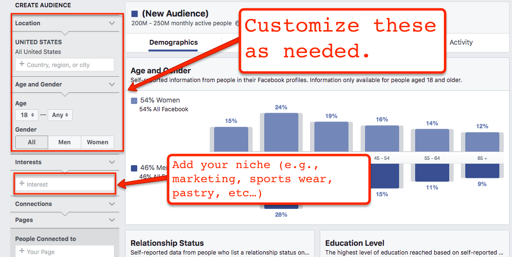 Facebook Audience Page