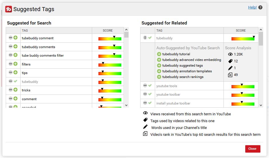tube buddy for youtube analytics metrics