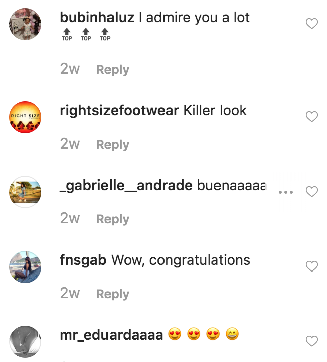 A screenshot depicting an example of suspicious, fake comments under a user's Instagram photo.
