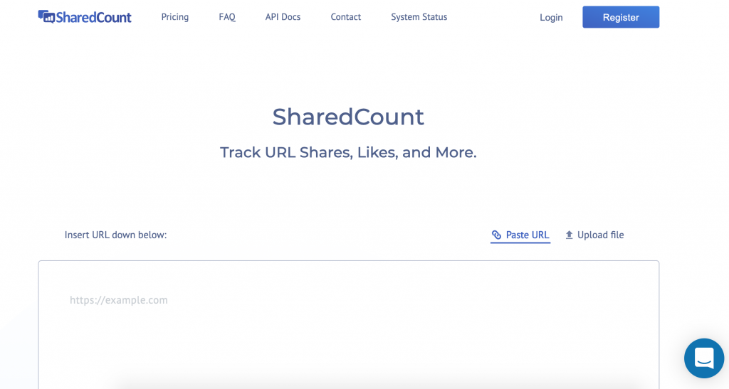 SharedCount Facebook Analytics Tool