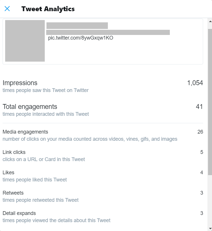 twitter analytics - view all engagements