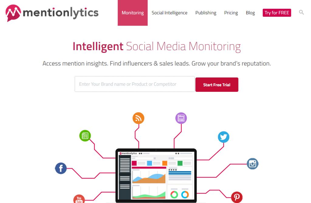 Social Media Tools - Social Listening Tools - Mentionlytics