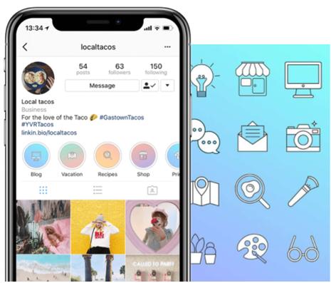 Social Media Icons - Keyhole - Hashtag Tracking - Instagram highlight cover set 4
