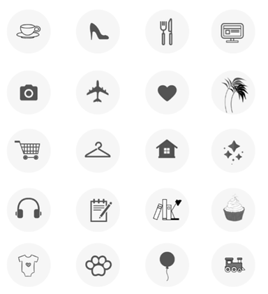 Social Media Icons - Keyhole - Hashtag Tracking - Instagram highlight cover set 5