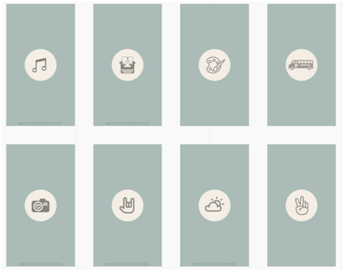 Social Media Icons - Keyhole - Hashtag Tracking - Instagram highlight cover set 6