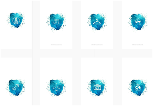 Social Media Icons - Keyhole - Hashtag Tracking - Instagram highlight cover set 8