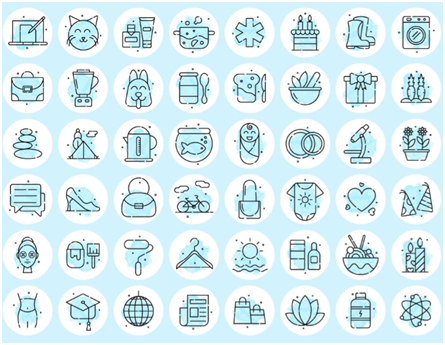 Social Media Icons - Keyhole - Hashtag Tracking - Instagram highlight cover set 10