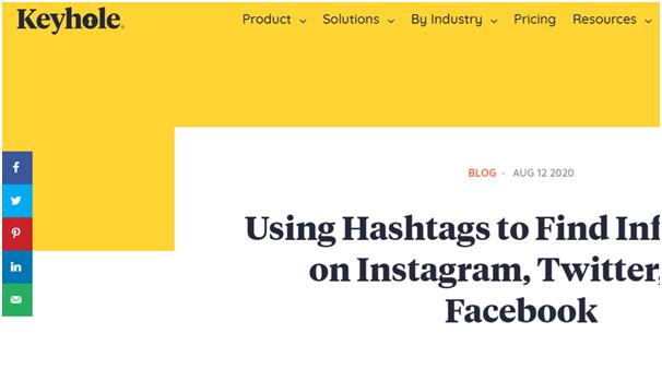 Social Media Icons - Keyhole - Hashtag Tracking
