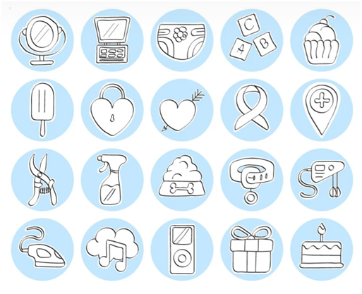 Social Media Icons - Keyhole - Hashtag Tracking - Instagram highlight cover set 1