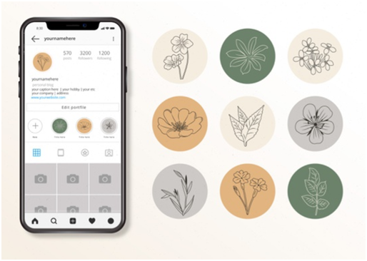 Social Media Icons - Keyhole - Hashtag Tracking - Instagram highlight cover set 2
