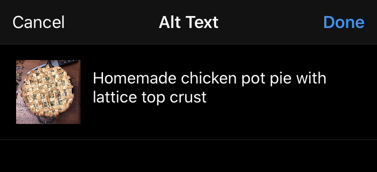 Alt Text on Instagram