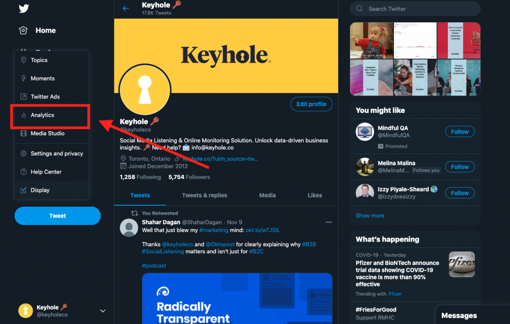 Twitter Analytics Guide Instructions