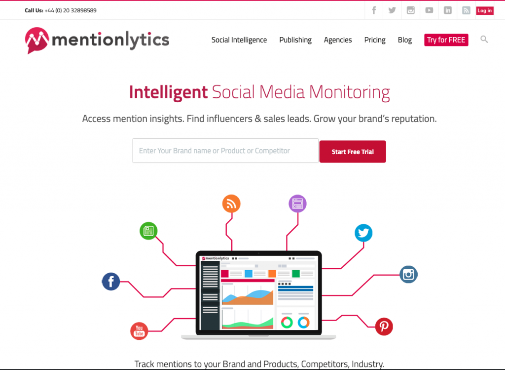 Mentionlytics - Top Social Media Monitoring Tools
