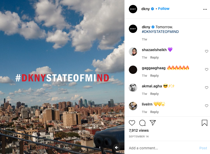 Best Fashion Social Media Campaigns: DKNY State of Mind