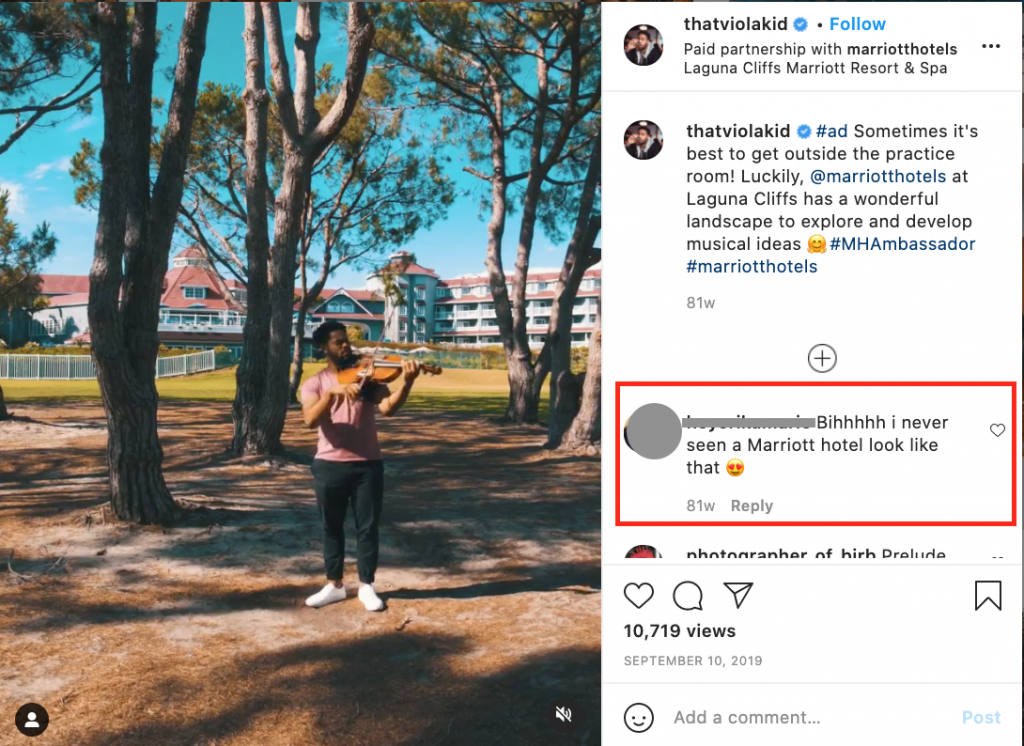 The Marriott Hotels - Influencer Marketing in 2021