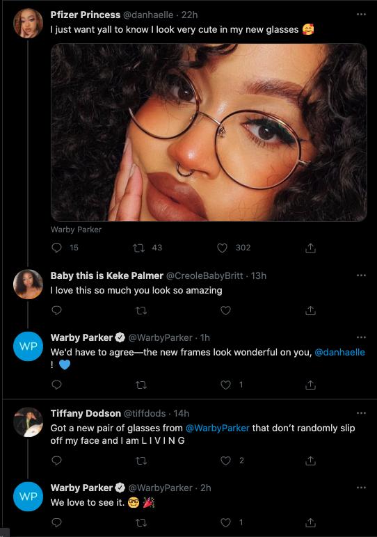 Social Listening D2C Brands: Warby Parker