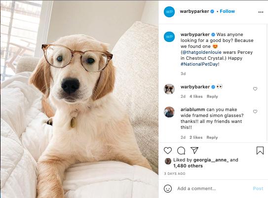 Social Listening for UGC - Warby Parker