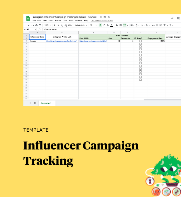 Influencer Campaign Tracking Template